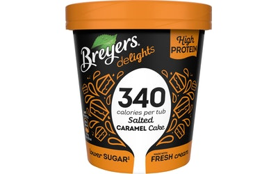 Breyers 500ml salted caramel cake prote