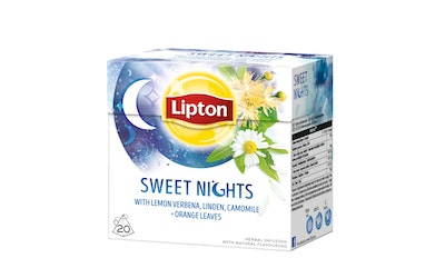 Lipton 20ps Sweet Nights pyramidi