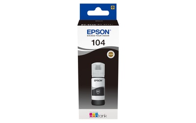 Epson 104 EcoTank mustepullo musta