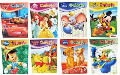 Disney värityskirja, 8 erillaista