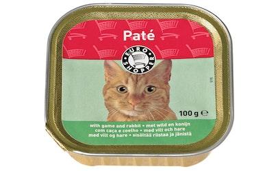 Euro Shopper kissan paté, sisältää riistaa ja jänistä 100 g