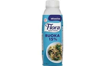 Flora Ruoka 15% 2,5dl laktoositon