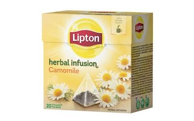 Lipton Kamomilla maustettu yrttitee 20 pyramidipussia 14g