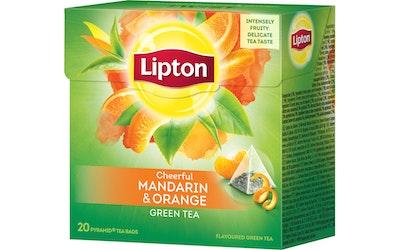 Lipton Mandarin Orange maustettu vihreä tee 20 pyramidipussia 36g