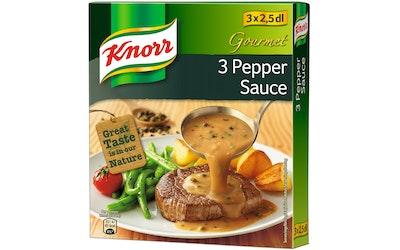 Knorr Gourmet 3 pippurin kastike kastikeainekset 3 x 39 g