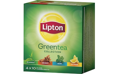 Lipton Clear Green Tea Collection 4x10 teepussia