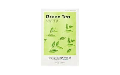 Missha Airy Fit kangasnaamio vihreä tee (Green Tea) 19g