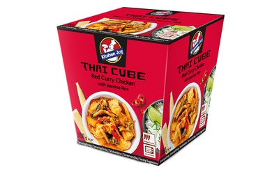 Kitchen Joy punaista currybroileria ja jasmin riisiä 350g pakaste