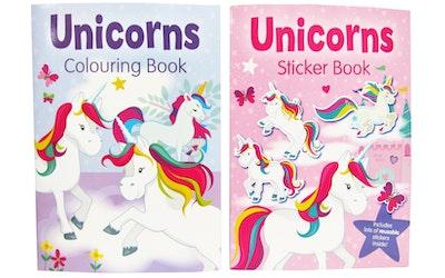 Unicorns väritys- / tarrakirja