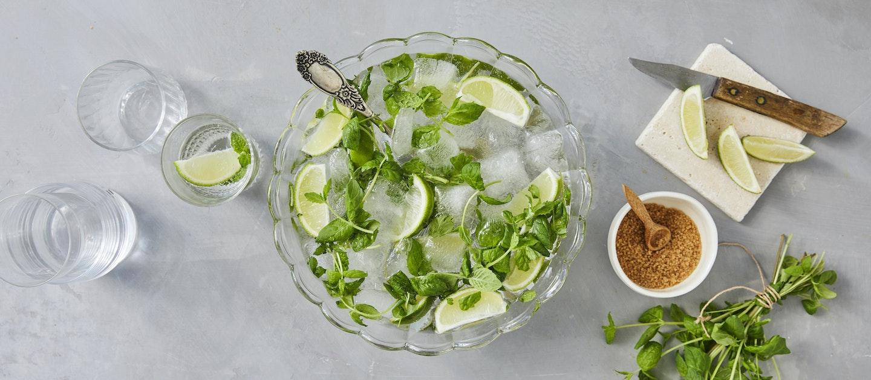 Alkoholiton mojitobooli