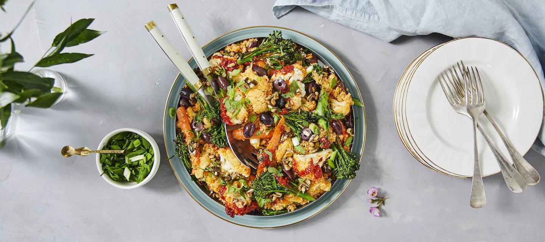 Kukkakaali-kvinoasalaatti