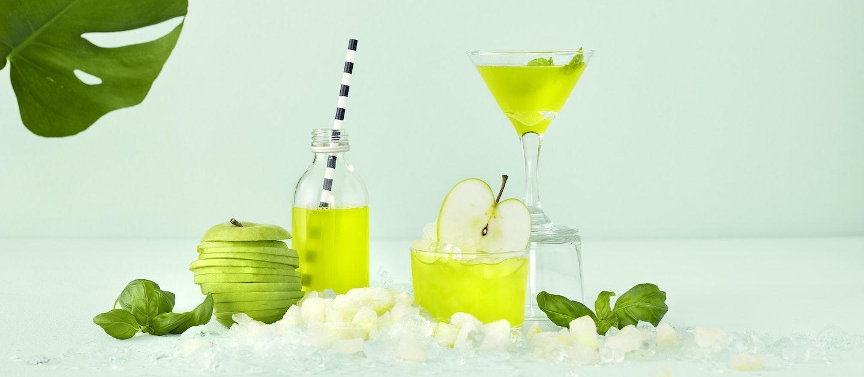 Jaffa Vihreä Omena -basilikajuoma