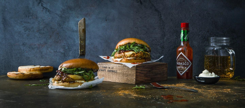 Buffalo Chicken Bacon Burger