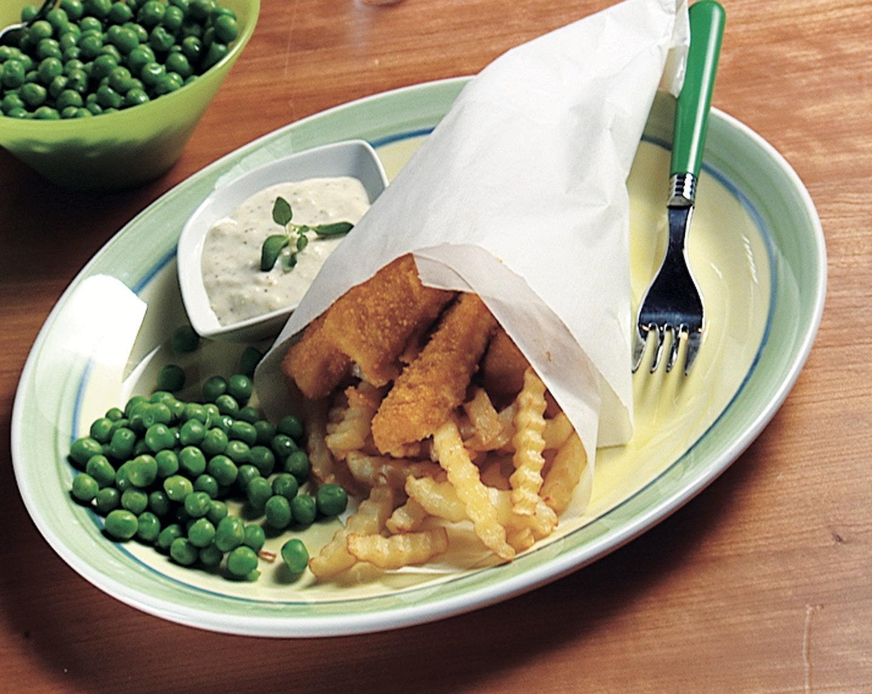 Fish & chips ja omenamajoneesi