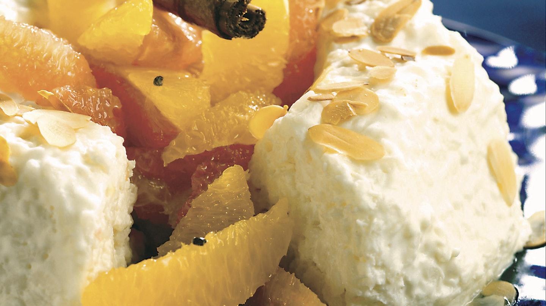 Kookosriisi ja marinoidut appelsiinit