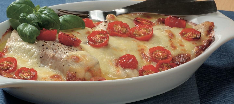 Tomaatti-mozzarellasiikaa