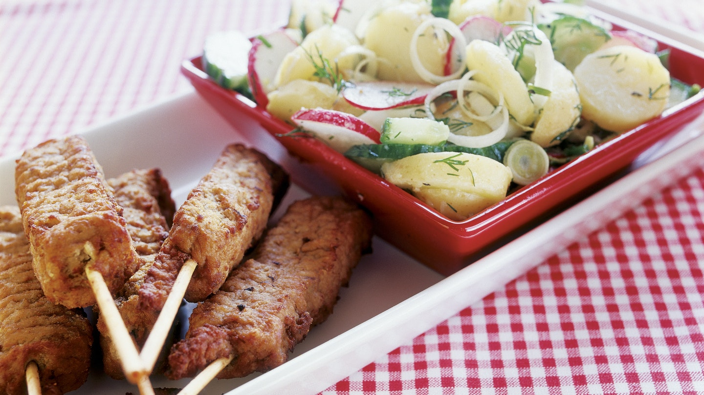 Kebakot ja perunasalaatti