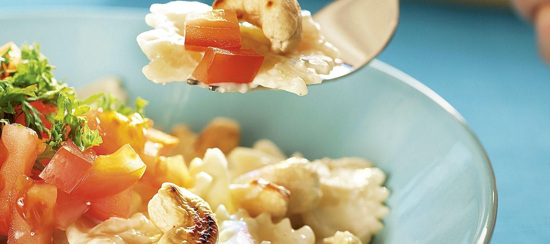 Sinihomejuusto-ananaspasta