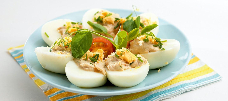 Täytetyt kananmunat