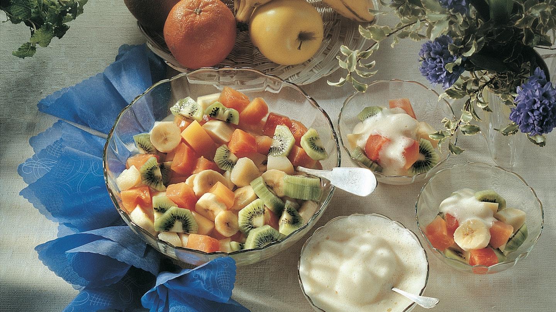 Eksoottinen hedelmäsalaatti