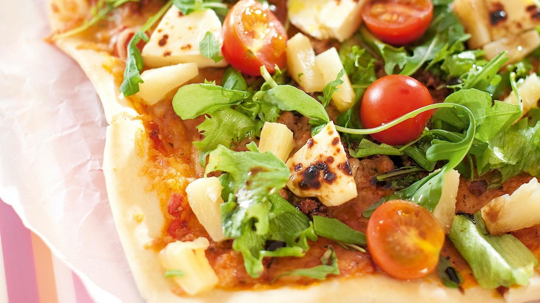 Salaattinen poro-juustopizza