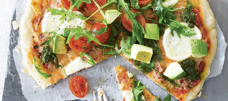 Mozzarella-salaattipizza, gluteeniton