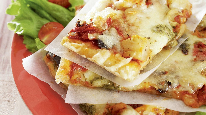 Mozzarella-paprikapizza