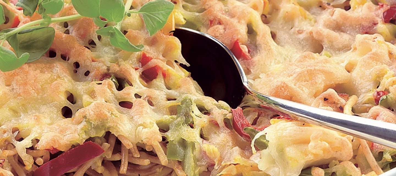Broileri-spagettigratiini