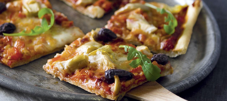 Artisokka-mozzarellapizza