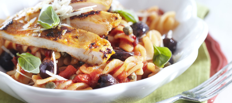 Broilerinen pasta puttanesca