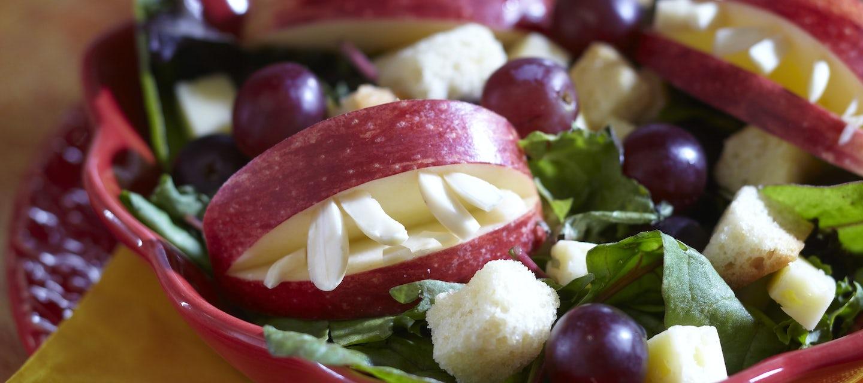 Halloween hammashirviön salaatti