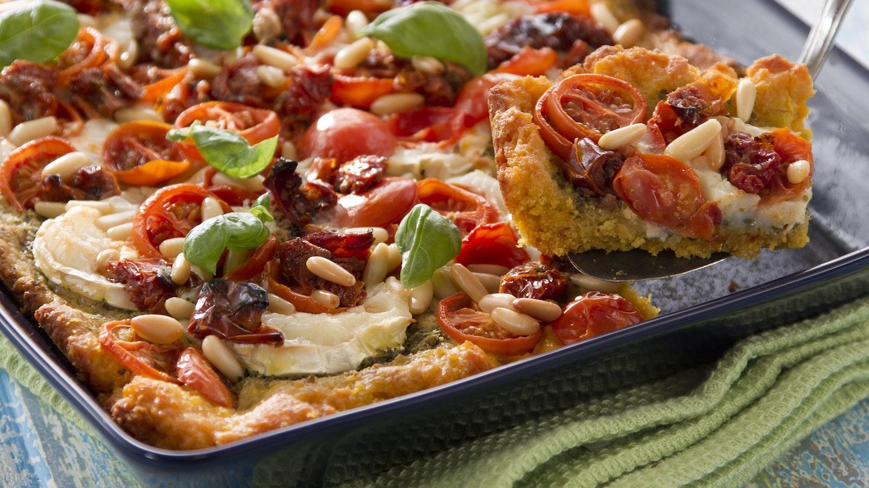 Vuohenjuusto-tomaattipiirakka