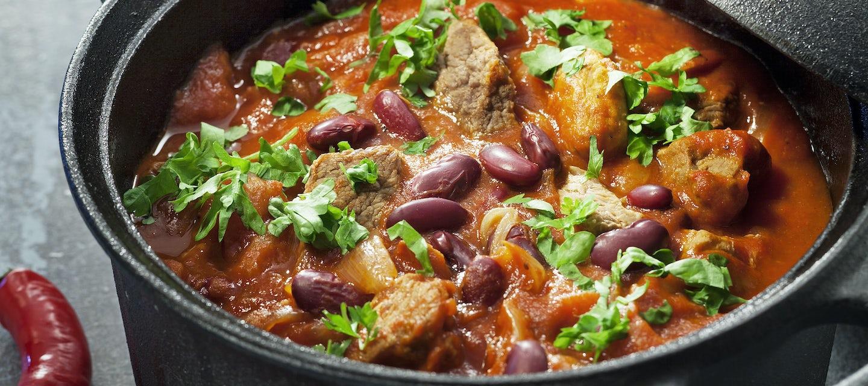 Meksikolainen liha-papupata