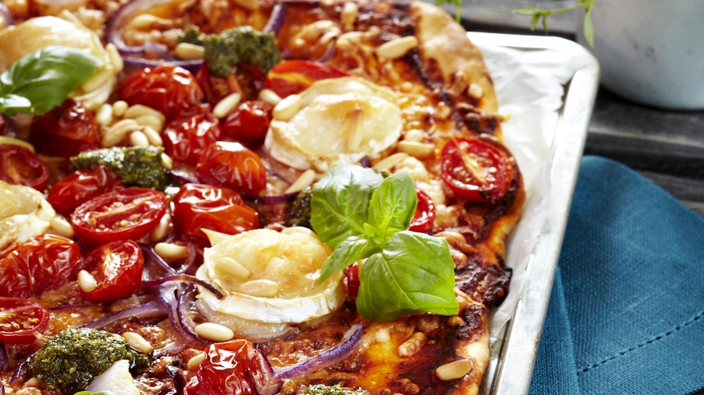 Vuohenjuusto-tomaattipizza