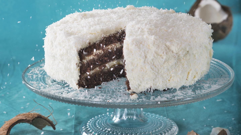 Suklaa-kookoskakku