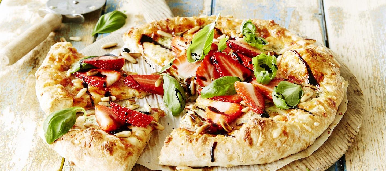 Mansikkainen juustopizza