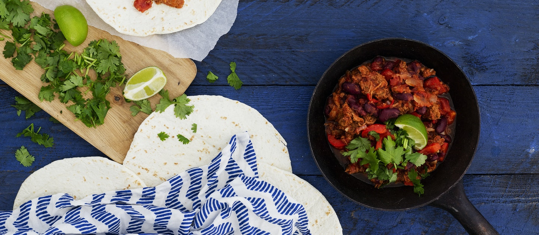 Chili con nyhtökaura