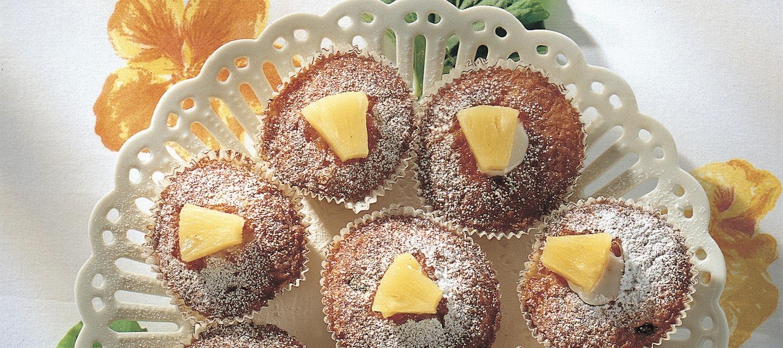 Matin mainiot ananasmuffinit