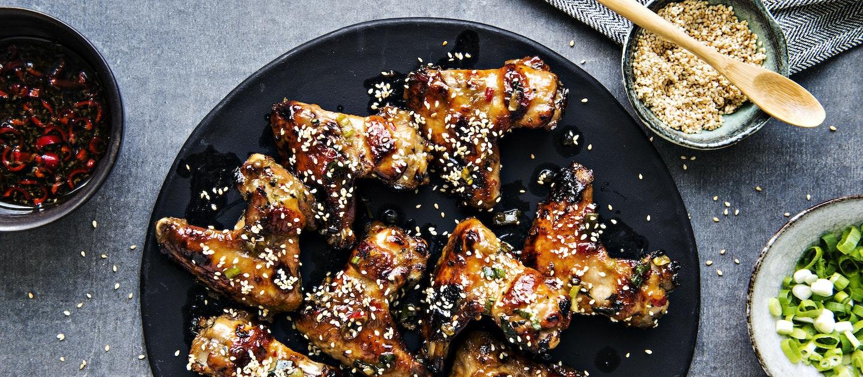 Inkivääri-hunajamarinoidut kanansiivet