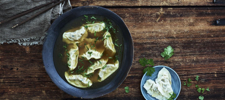 Dumplings, lihatäyte