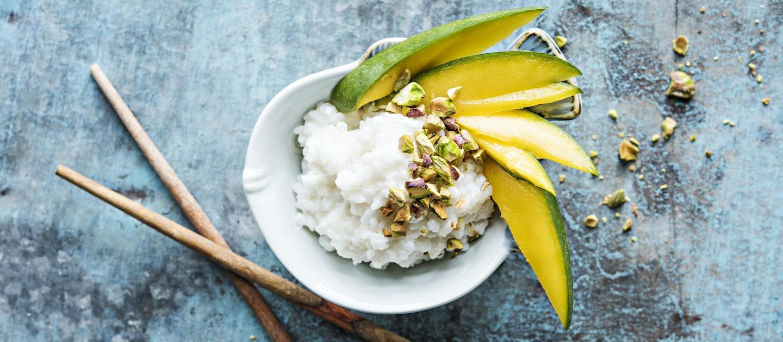 Mango sticky rice eli mangoa ja tahmeaa riisiä