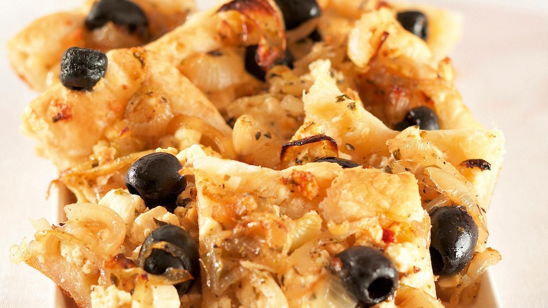 Fetajuusto-sipulipalat, pellillinen