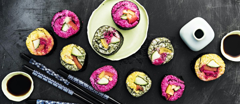 Värikkäät sushit