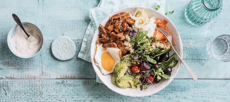 Kvinoa-lihabowl