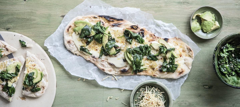 Vihreä grillipizza