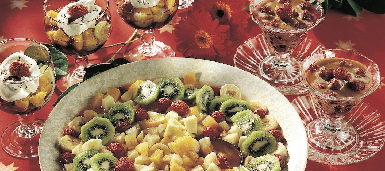 Joulun raikas hedelmäsalaatti