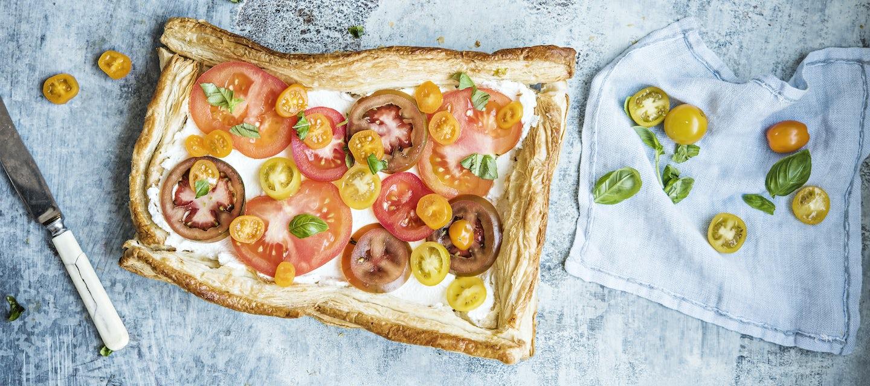 Tomaatti-ricottapiirakka