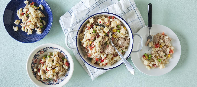 Helppo tonnikala-pastasalaatti