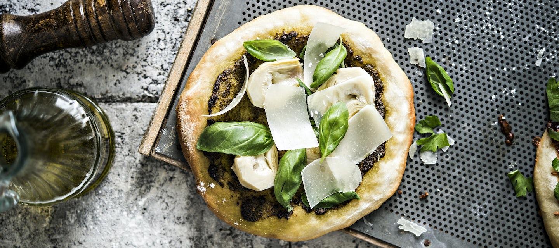 Artisokka-pestopizza
