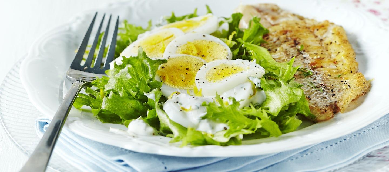 Sitruunainen kananmunasalaatti
